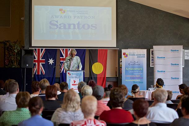 Santos Narrabri Gas Project Young Achiever Awards launch in Narrabri by Councillor Les Knox